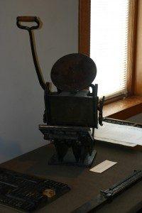 The printing press used by John Bradford to publish The Kentucke Gazette