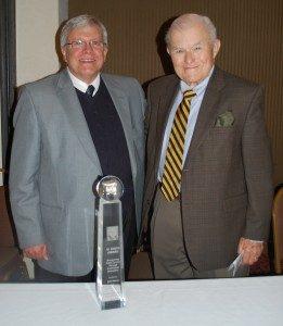 John Nelson, left, with award namesake Al Smith. (Photo by Teresa Revlett)