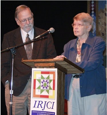 Tom and Pat Gish accept the award in 2004 that was named in their honor